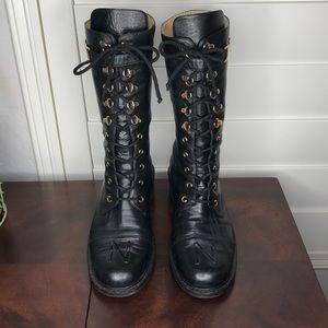 Nouchka Black Leather Boots Size 40